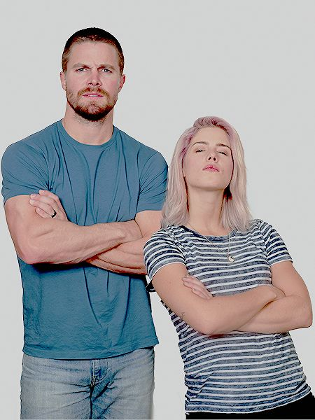 Stephen Amell and Emily Bett Rickards at City of Heroes 2016