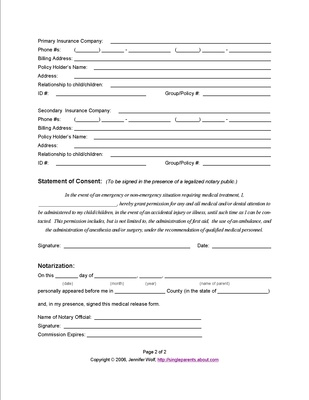Use This Medical Release Form To Protect Your Kids In An Emergency Medisch