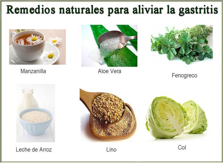 Remedios naturales para la gastritis carteles pinterest