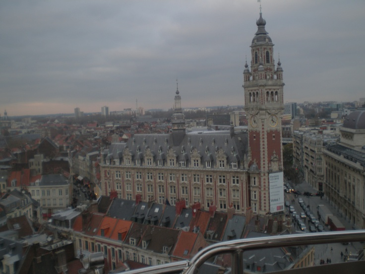 Lille from ferris wheel view