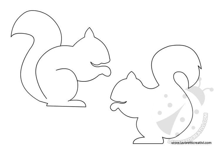 SAGOME PER LAVORETTI CON SCOIATTOLO Sagome per realizzare simpatici scoiattoli di compensato, di carta o di altro materiale.