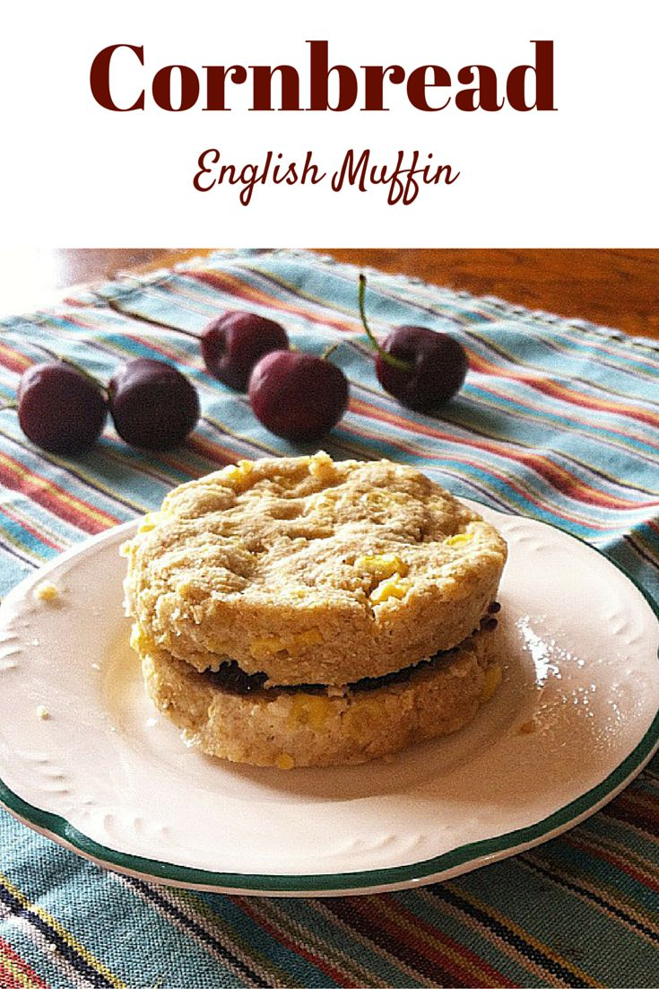 #healthy Cornbread English Muffin made in the microwave! Make this for a tasty and easy breakfast! #vegan #glutenfree