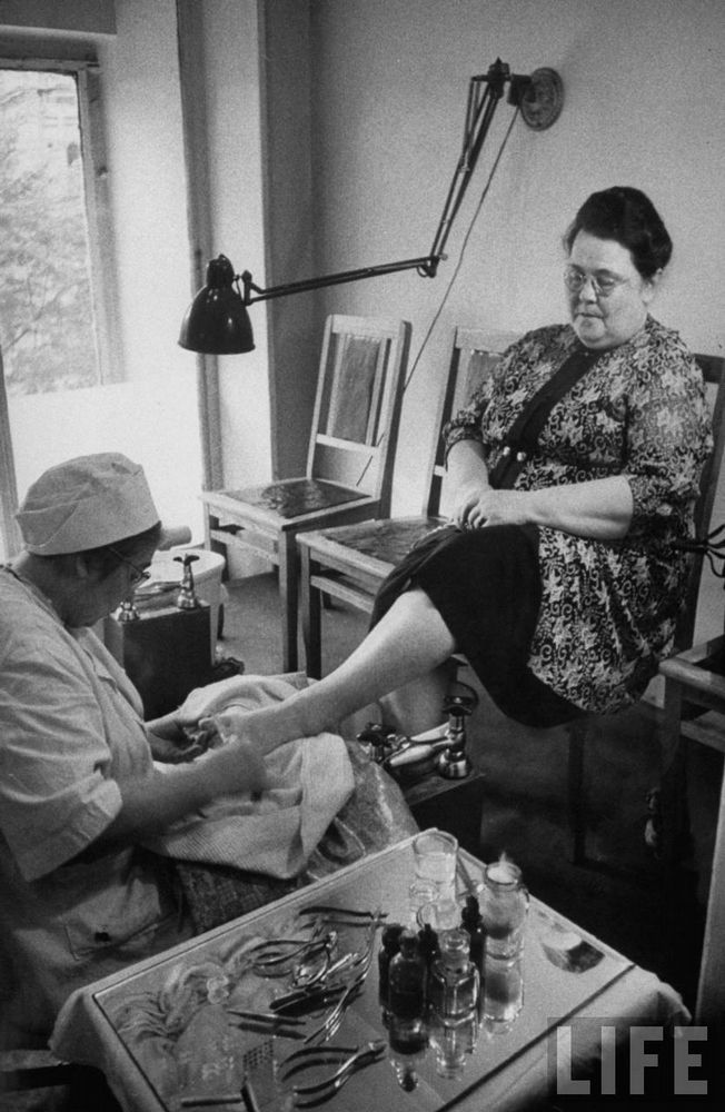 Being pedicured Moscow By Lisa Larsen 1956