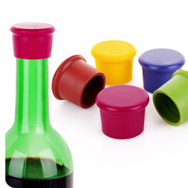 5 stks siliconen wijn stoppers Lek gratis wijnfles sealers voor rode wijn en bierfles cap