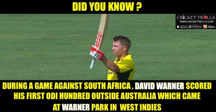 #DavidWarner #TriSeries #ODI #SAvsAUS #AUSvsSA Australian Cricket Team Cricket Trolls Predict2Win David Warner scores his first ODI century outside Australia (AUS vs SA West Indies Tri-Series 2016) http://crickettrolls.com/2016/06/12/david-warner-scores-his-first-odi-century-outside-australia-aus-vs-sa-west-indies-tri-series-2016/