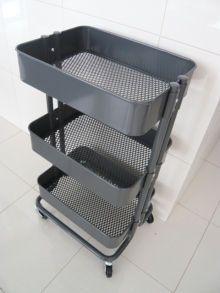 IKEA(イケア)の「キッチンワゴンRÅSKOG」を使ったおしゃれな収納アイデア - NAVER まとめ