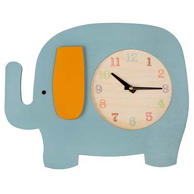 for a baby room: Babies, Baby Elephants, Favorite Elephants, Baby Rooms, Gifts For Kids, Clocks, Elephant Room, Elephant Clock Uncommongoods
