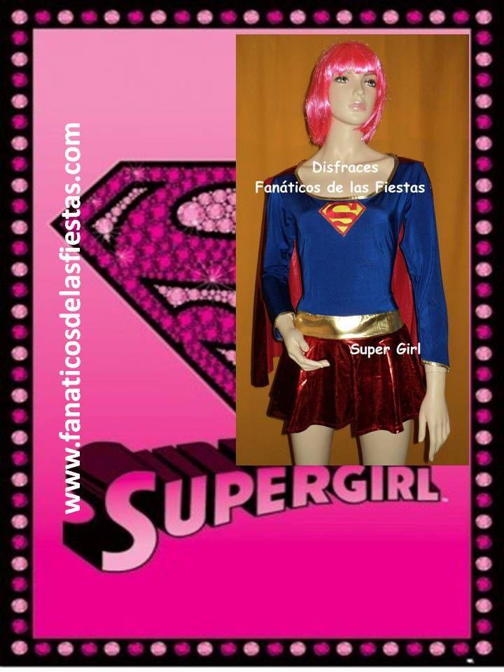 Disfraz de Super Girl , nuevos , solo venta . Disponible en tallas M-L-XL . Enviamos a todo Chile  Precio venta 23.000 pesos. www.fanaticosdelasfiestas.com