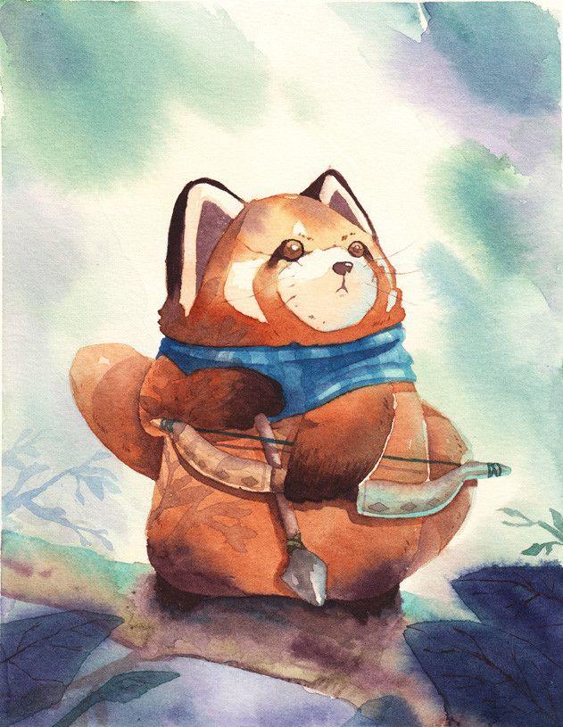 Red Panda, Tiago Kogi on ArtStation at https://www.artstation.com/artwork/eQVmD