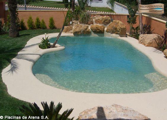 Mejores 34 im genes de piscinas de arena en espa a en Piscina arena compactada