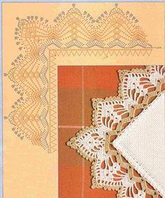 PATRONES DE COMO HACER BORDES A GANCHILLO PARA MANTELES | Patrones Crochet, Manualidades y Reciclado