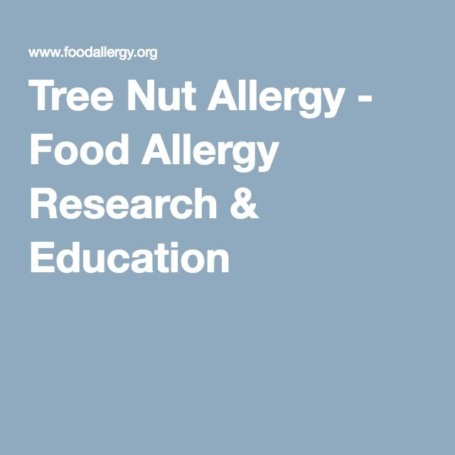 Tree Nut Allergy - Food Allergy Research & Education