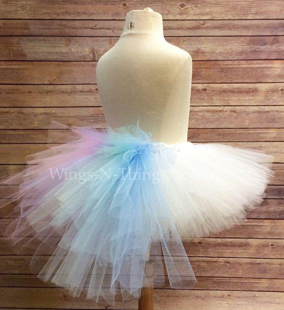 CELESTIA TUTU SKIRT bustle tail, Children's Costume, Party, Rainbow, Little Pony, Unicorn, Toddler, Kids, Girls, Child, Dress Up, Play