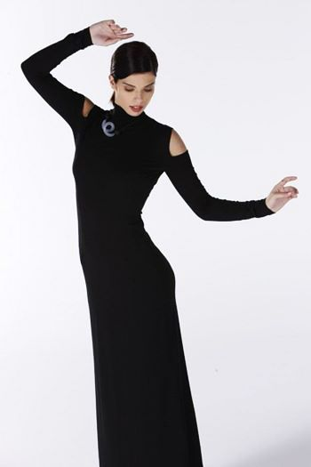 Black evening dress.
