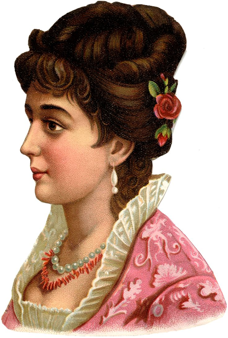 Vintage-Lady-in-Pink-GraphicsFairy.jpg (1215×1800)