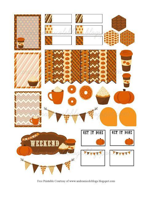 Andrea Nicole: Pumpkin Spice Planner Page Decoration Free Printab...