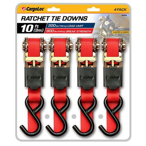 CargoLoc 10' Tie Downs 4-Pack - Marine Supplies, Marine Rope And Tie Downs at Academy Sports