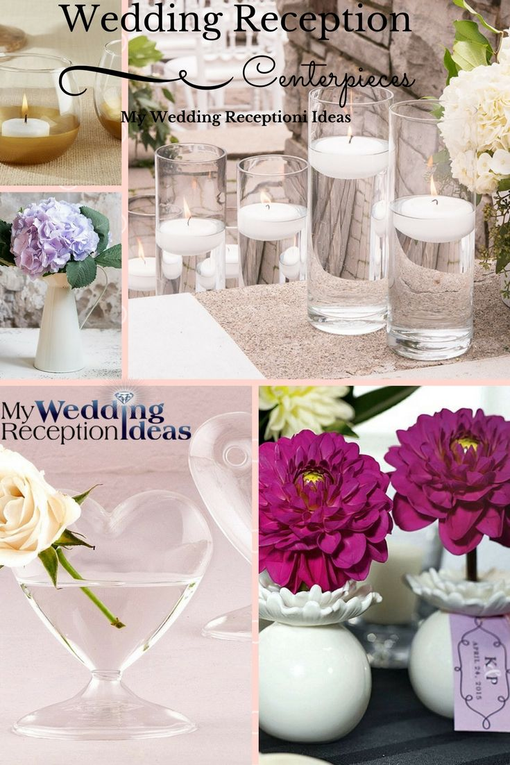 80 best wedding table centerpieces images on pinterest - Glass vases for wedding table decorations ...