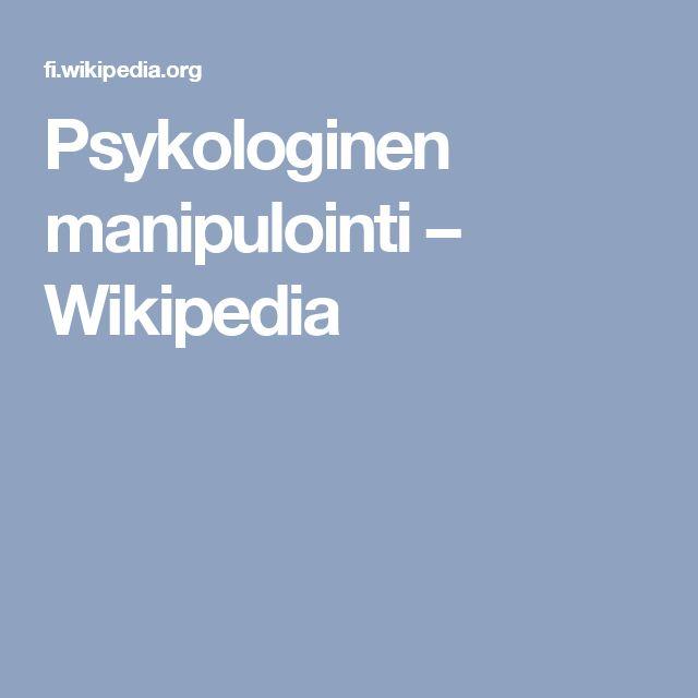 Psykologinen manipulointi – Wikipedia
