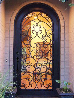 SAD-031-Wrought iron storm door & 21 best Wrought Iron Single Doors images on Pinterest | Entrance ...