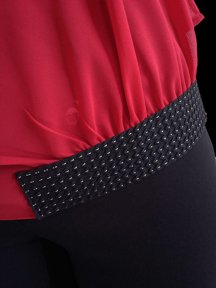 Blusa con top de licra, (twin set elastic). KENZZO modas