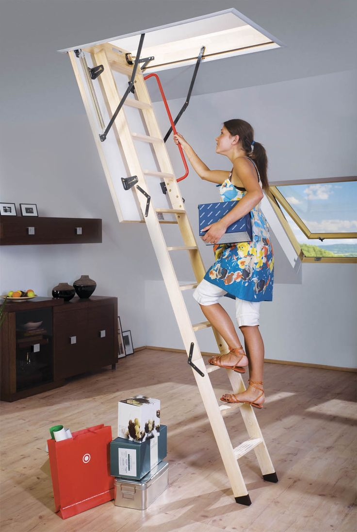 The Fakro LWK Wooden Loft Ladder. The Fakro Komfort LWK Timber Loft Ladder  Is A