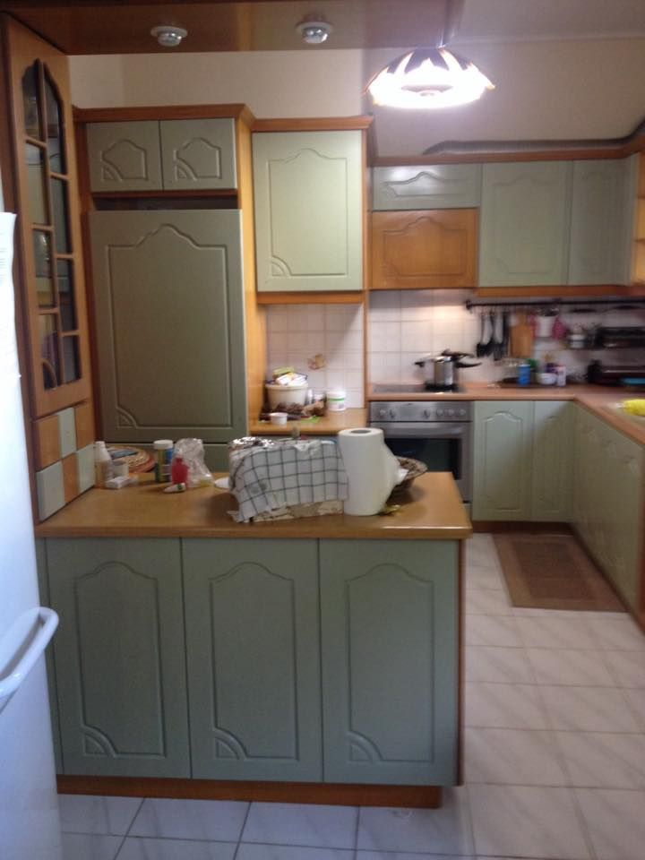 Η κουζίνας ανανεώθηκε με miss mustard seed's Layla's mint !