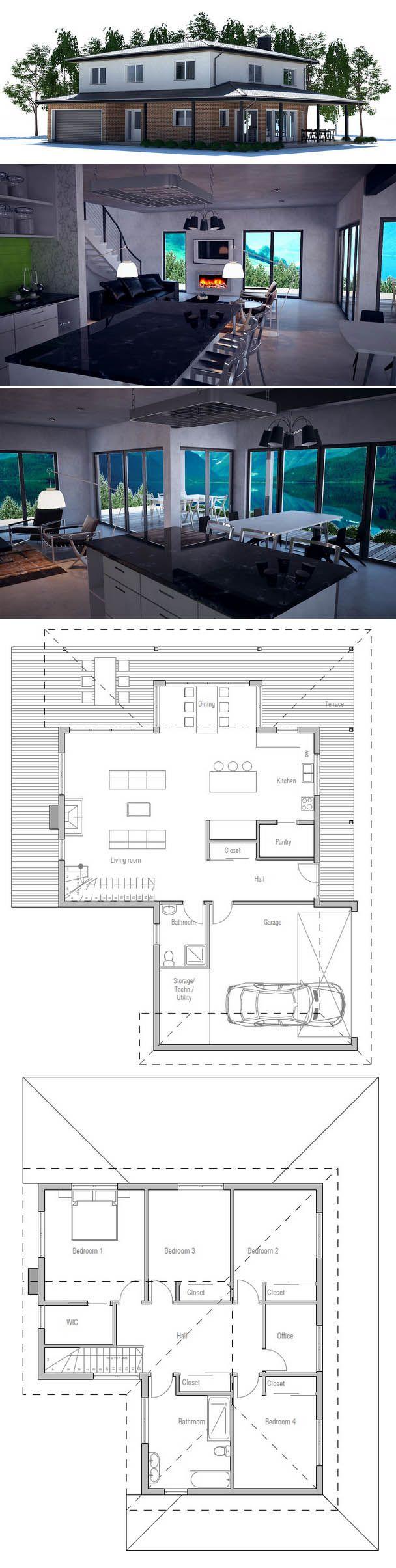 Oltre 25 fantastiche idee su planimetrie di case su for Piccole planimetrie a concetto aperto