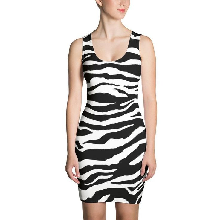 80s Clothing Punk Dress Zebra Bodycon Dress Pencil Dress Pin Up Dress Rockabilly Dress Kawaii Dress Kawaii Clothing Harajuku Aesthetic