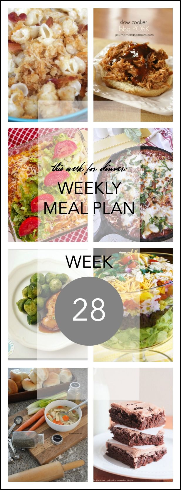 MEAL PLAN #28- bloggers favorite recipes