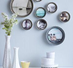Diese Bilderrahmen bringen Lifestyle in Deine Küche! Flache Backformen und Tarteförmchen lassen sich ganz leicht in trendige Deko verwandeln. #DIY