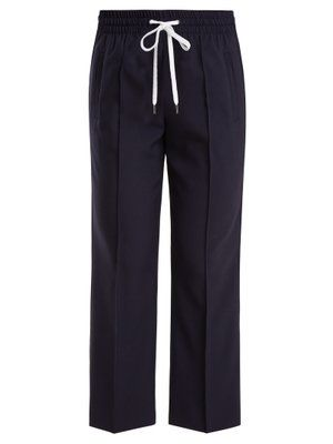 Mid-rise cropped wool-blend trousers | Miu Miu | MATCHESFASHION.COM UK