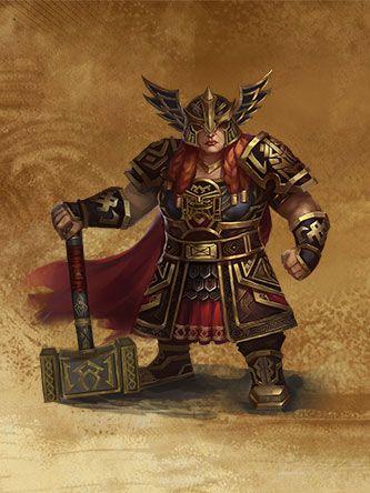 HoMM 7 - Female Dwarf Jarl