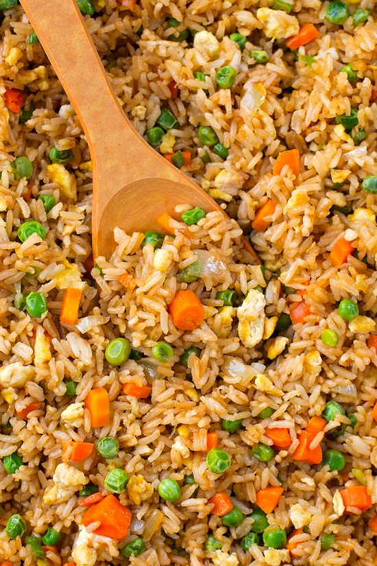 There's no need to order out! This better than takeout fried rice is ready to go in just 20 minutes!