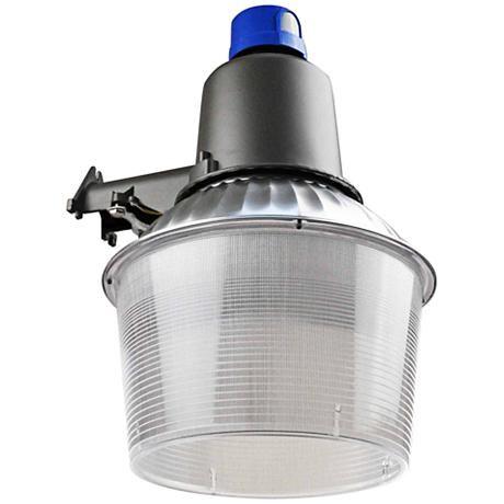 "Kelvin Silver Aluminum 16""H LED Dusk-to-Dawn Security Light"
