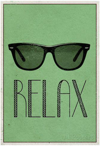 Relax Retro Sunglasses Art Poster Print Posters at AllPosters.com
