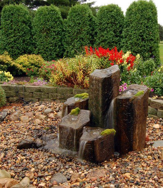 Front yard fountain ideas for the home pinterest for Front garden feature ideas
