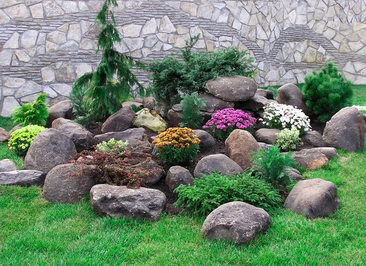 альпийская горка на даче своими руками с камнями фото: 4 ...