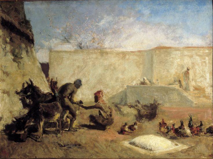 Herreros marroquíes, 1870. Óleo sobre lienzo, 49x66,5cm. Museo Nacional de Arte de Cataluña.