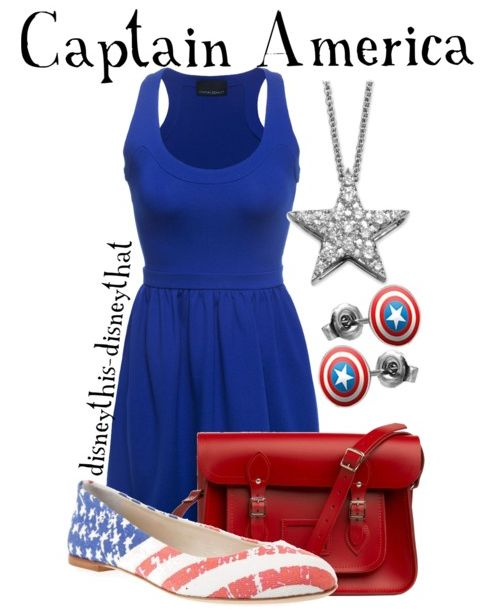 my 4th of july outfit! Captain America