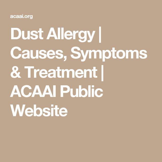 Dust Allergy | Causes, Symptoms & Treatment | ACAAI Public Website