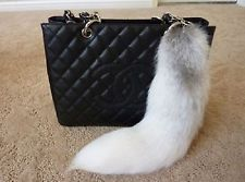 Super Large Fox Tail Keychain Fur Tassel Bag Tag Charm