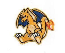 """4"""" Charizard INSPIRED Pokemon Go Iron On Patch Embroidered Applique Sew/Iron on"""