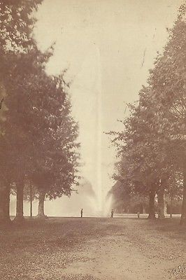 Cute CABINET PHOTO OUTDOOR PARK SCENE WATER FOUNTAIN GEYSER HANNOVER GERMANY