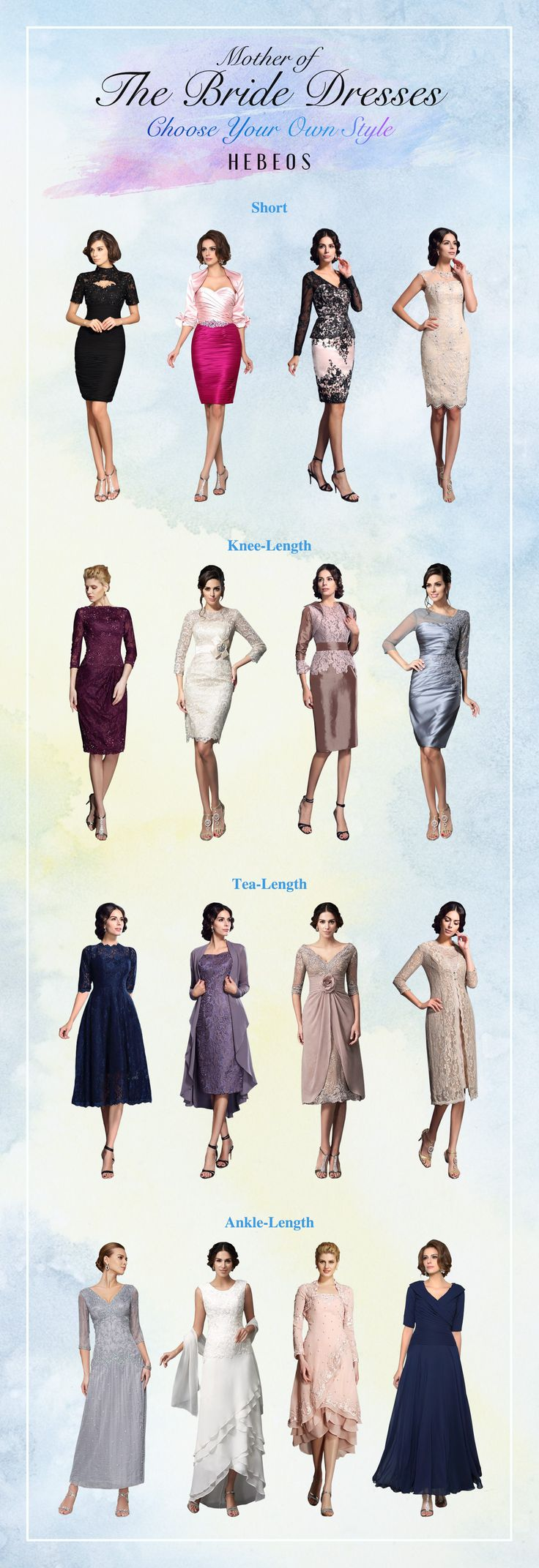 Cheap mother of the bride dresses on sale! All sizes available.Choose your favorite! #Hebeos
