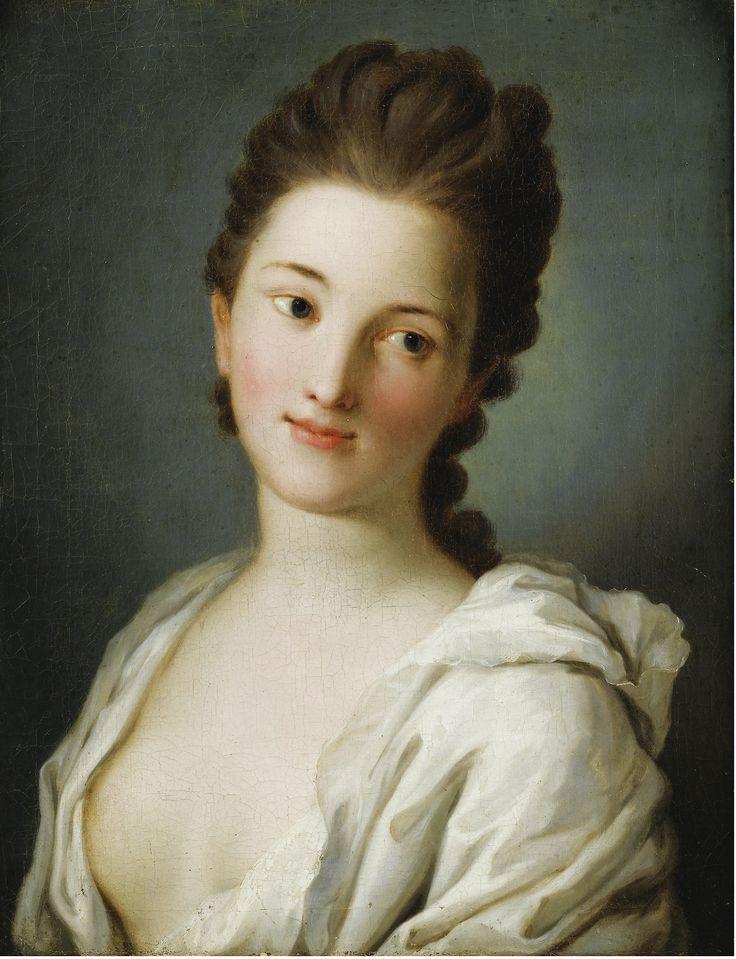 Portrait of Woman in White Suit. Pietro Antonio Rotari (Italian.1707-1762).Oil on canvas.