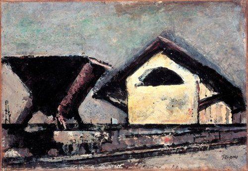 1952, Railway Yard, olio su tela, 34,5x50 cm, collezione privata