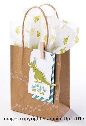 Good Morning, Stampers!  Today's project is a fun way to dress up a plain gift bag for a fun party celebration! What better way to present a...