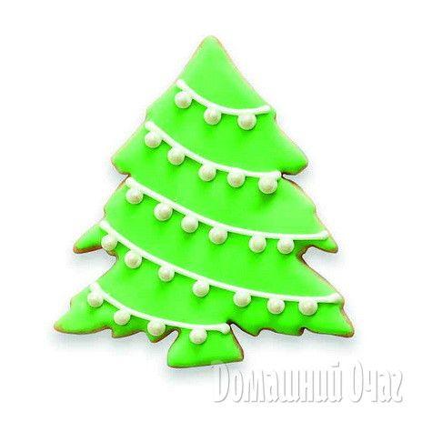 Сахарным печеньем можно украсить рождественскую елку.