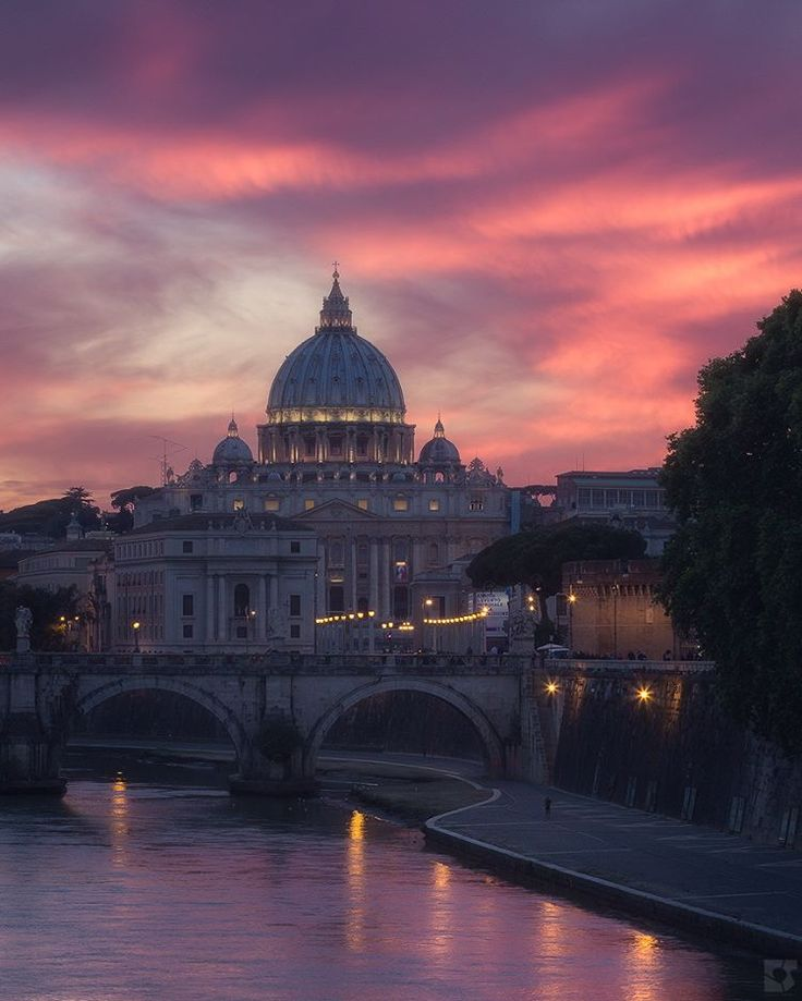 Rome at sunset ♠ by Emanuele Serraino on Instagram
